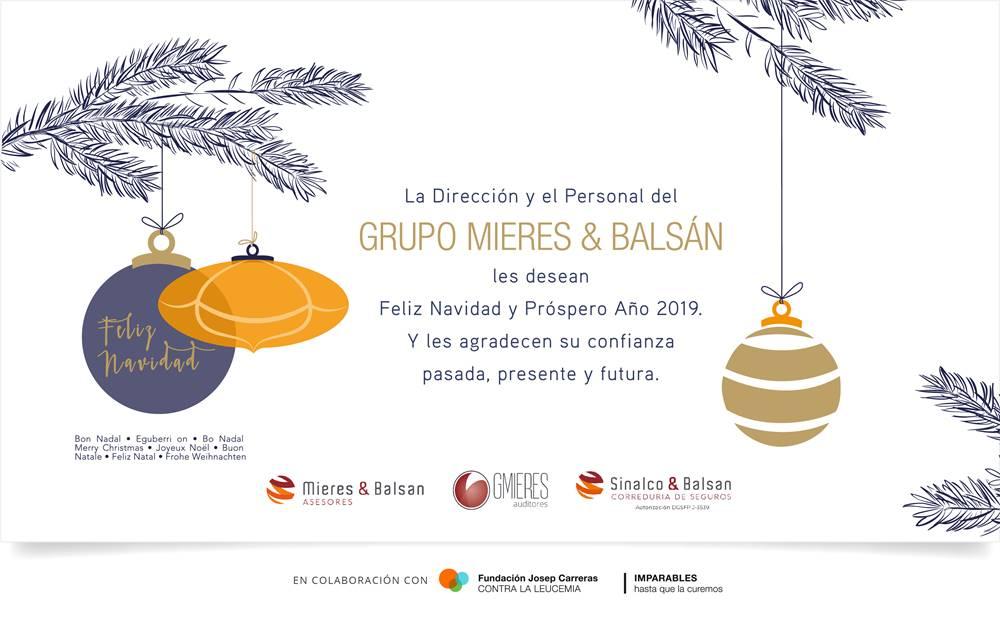 Feliz Navidad y próspero año 2019Feliz Navidad y próspero año 2019